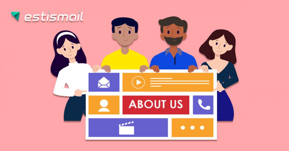 """Estismail: Как создать лучшую страницу """"О нас"""". 16 отличных примеров"""