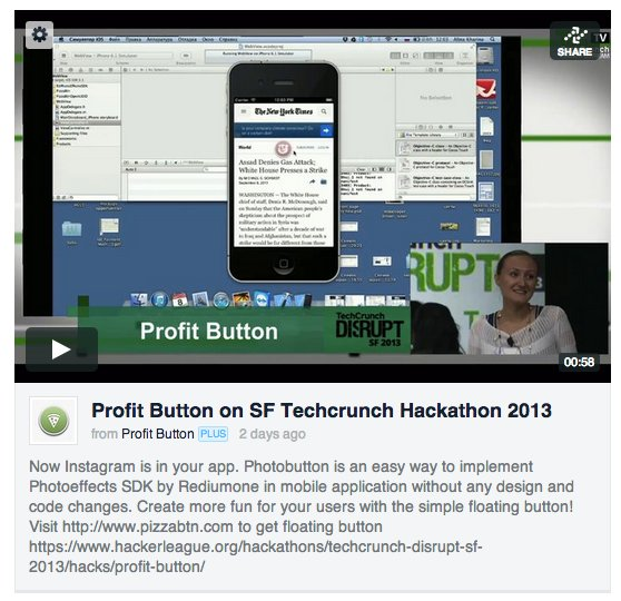 Profit Button на Hackathon Techcrunch SF