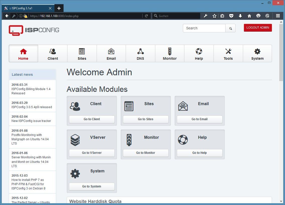 Панели управления хостингом для ubuntu ns сервера разных хостингов для одного